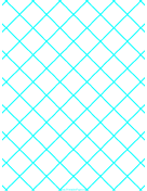 Graph Paper for Quilting with 1 Line per inch ruled diagonally paper