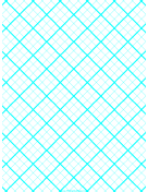 Graph Paper for Quilting with 3 Lines per inch and heavy index lines paper