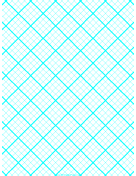 Graph Paper for Quilting with 4 Lines per inch and heavy index lines paper
